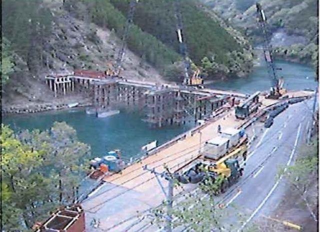 2009年4月 仮橋設置(LIBRA工法)