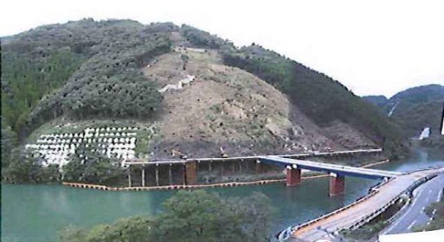 2009年10月 仮橋完了・アンカー施工